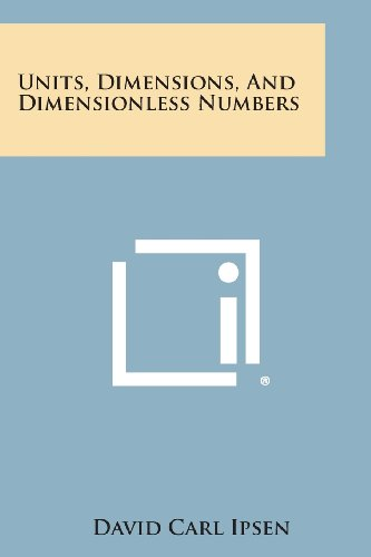 9781258823481: Units, Dimensions, and Dimensionless Numbers