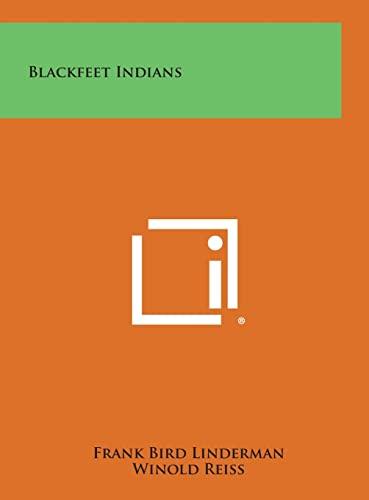 9781258827137: Blackfeet Indians
