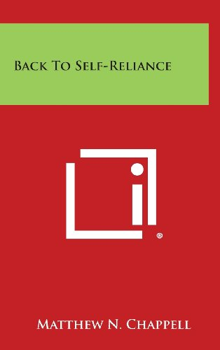 9781258840204: Back to Self-Reliance