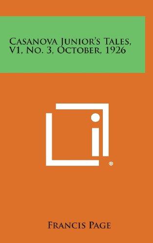 9781258846077: Casanova Junior's Tales, V1, No. 3, October, 1926