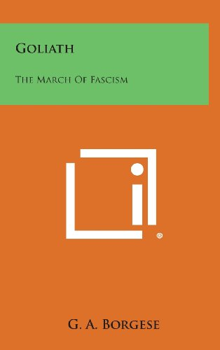 9781258868093: Goliath: The March of Fascism