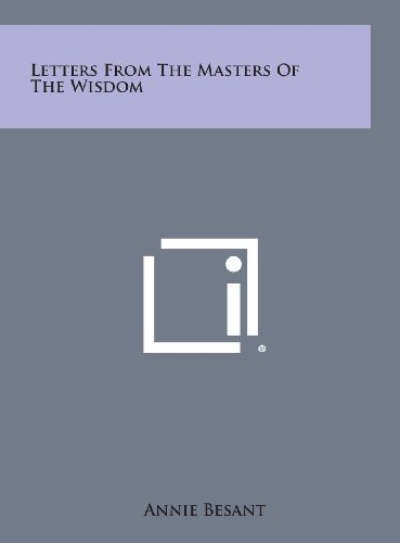 9781258885076: Letters from the Masters of the Wisdom
