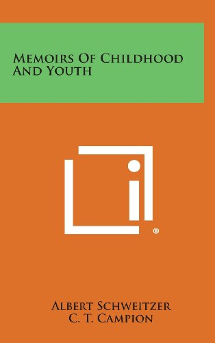 9781258891305: Memoirs of Childhood and Youth