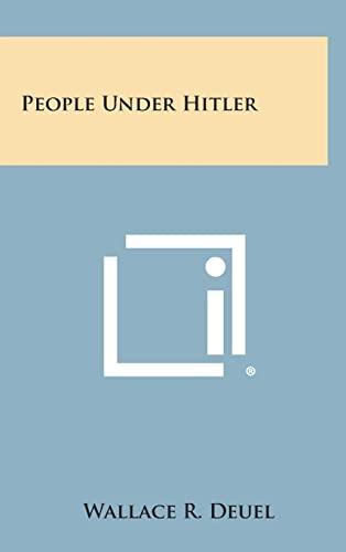 9781258901882: People Under Hitler