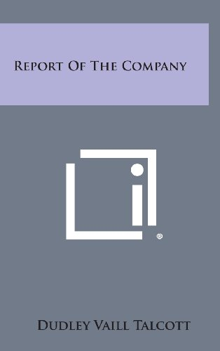 9781258908553: Report of the Company