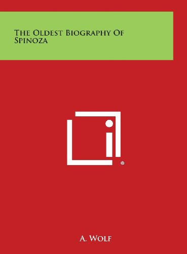9781258947392: The Oldest Biography of Spinoza