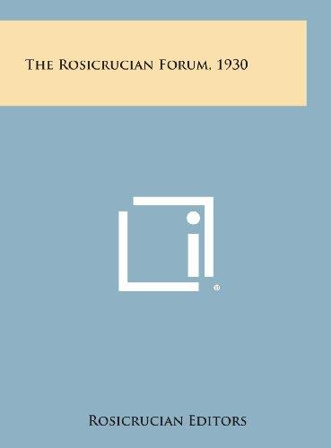 9781258952594: The Rosicrucian Forum, 1930