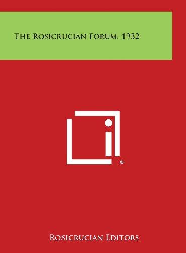 9781258952617: The Rosicrucian Forum, 1932