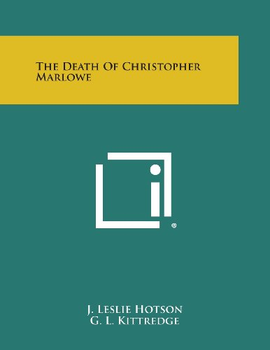 9781258997304: The Death of Christopher Marlowe