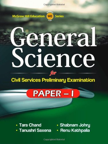 9781259001215: GENERAL SCIENCE PAPER I