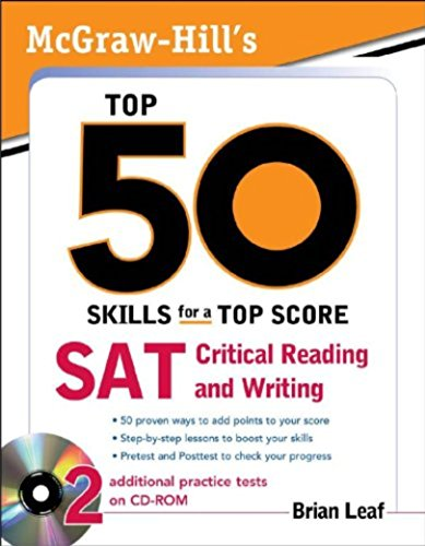 9781259001949: McGraw-Hill\'s Top 50 Skills for a Top Score: SAT Critical Reading and Writing