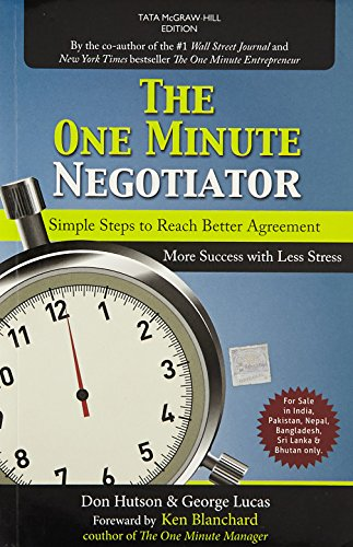 The One Minute Negotiator: Don Hutson,George Lucas