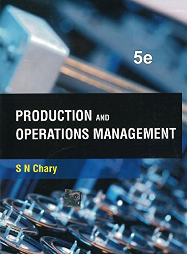 9781259005107: Production And Operations Management, 5Ed