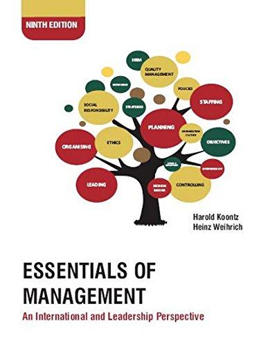 Essentials of Management: An International and Leadership: Harold Koontz,Heinz Wittenbrink