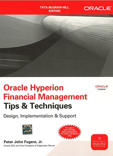 9781259005299: Oracle Hyperion Financial Management Tips And Techniques