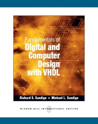 9781259007552: Fundamentals of Digital and Computer Design with VHDL