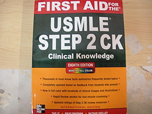 9781259009426: First Aid fo the USMLE Step 2 CK - IE