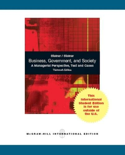 9781259009457: Business, Government and Society: A Managerial Perspective
