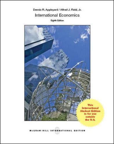 International Economics (Int'l Ed): Appleyard, Dennis; Field,