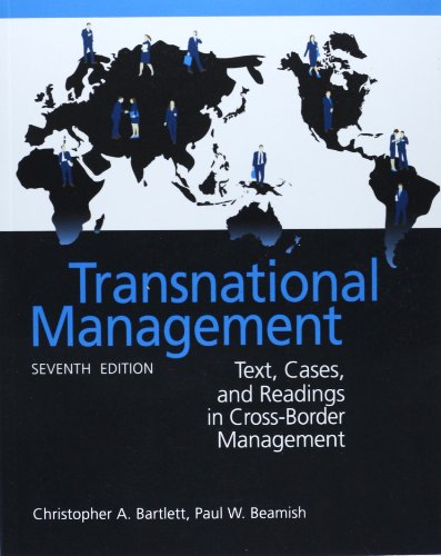 9781259010590: Transnational Management: Text, Cases & Readings in Cross-Border Management (Asia Higher Education Business & Economics Management and Organization)