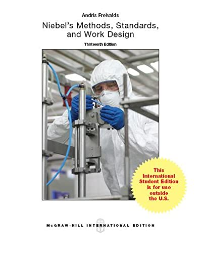 9781259010668: Niebel's Methods, Standards, & Work Design (Int'l Ed)