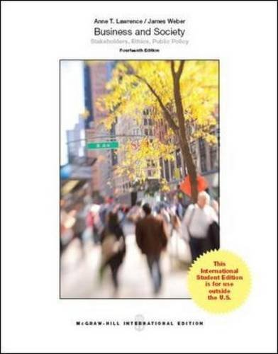 9781259010729: Business and Society: Stakeholders, Ethics, Public Policy