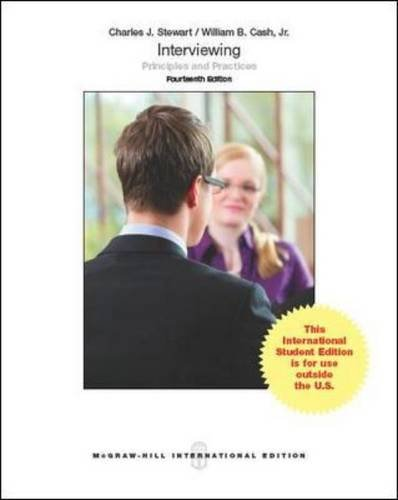 9781259010866: Interviewing: Principles and Practices (Int'l Ed)