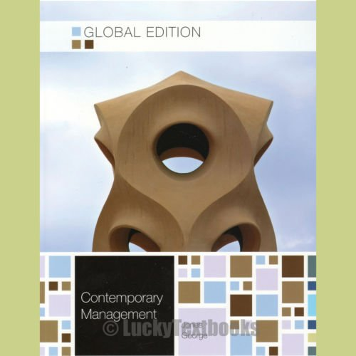 9781259011795: Contemporary Management 8th by Gareth R. Jones and Jennifer M. George (2013)