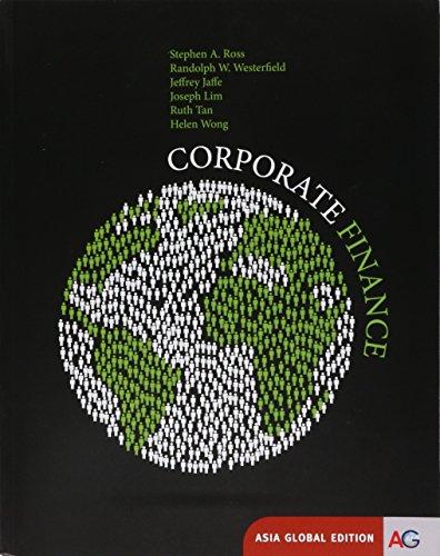 9781259011832: Corporate Finance Asia Global Ed.
