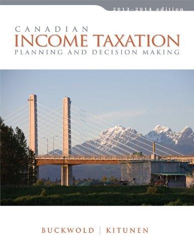 9781259024870: Canadian Income Taxation
