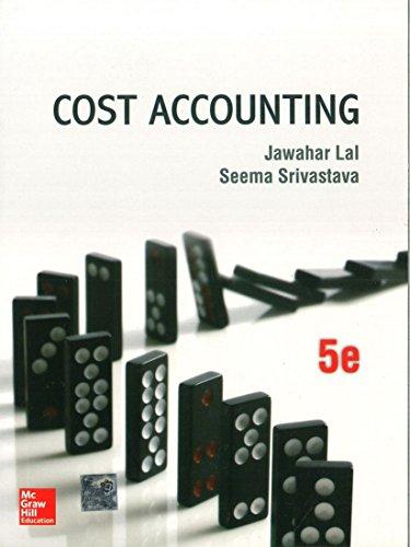 Cost Accounting: Jawahar Lal,Seema Srivastava