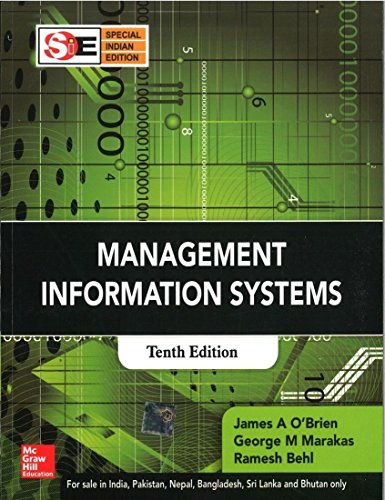 Management Information Systems: James A O'Brien;