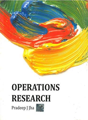 Operations Research: Pradeep J. Jha