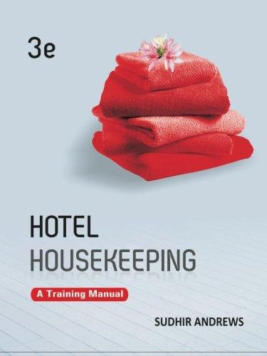 9781259026911: Hotel Housekeeping: A Training Manual