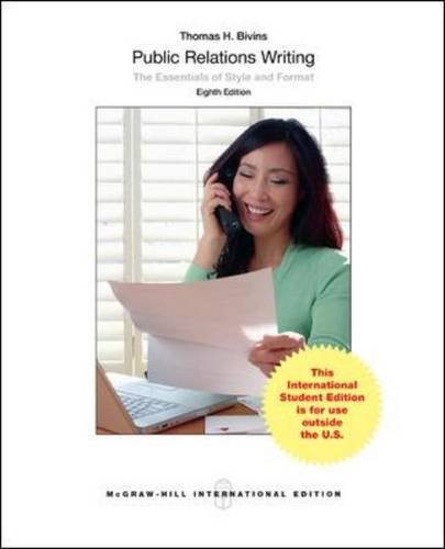 9781259060373: Public Relations Writing: The Essentials of Style and Format (Int'l Ed)