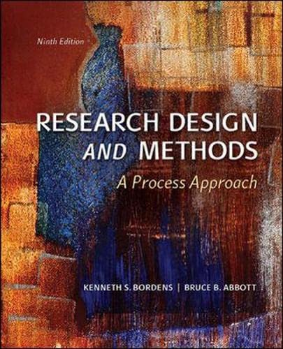 9781259060380: Research Design and Methods: A Process Approach (Int'l Ed)