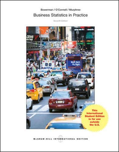 9781259060397: Business Statistics in Practice (Int'l Ed)
