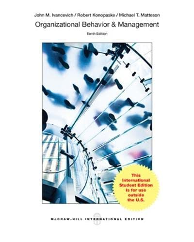 9781259060595: Organizational Behavior and Management, 10th ...