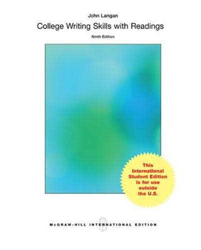 9781259060632: College Writing Skills with Readings (Int'l Ed)
