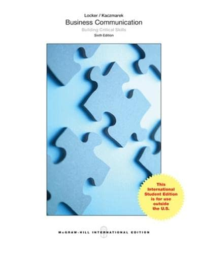 9781259060670: Business Communication: Building Critical Skills