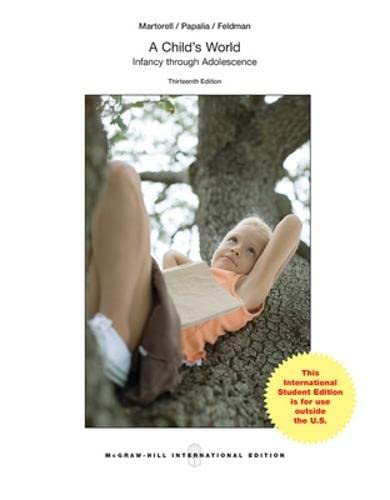 9781259060748: A Child's World: Infancy Through Adolescence