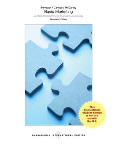 9781259060762: Basic Marketing: A Marketing Strategy Planning Approach