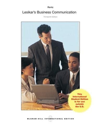 9781259060809: Lesikar's Business Communication