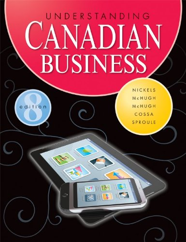 Understanding Canadian Business with Connect with Learnsmart: William Nickels (Author),