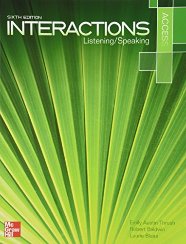9781259070310: Interactions Access Listening & Speaking