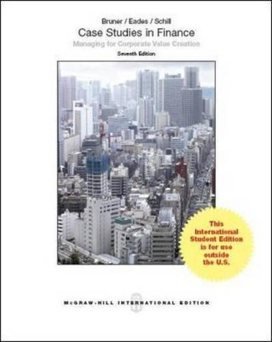 9781259070945: Case Studies in Finance (Int'l Ed)