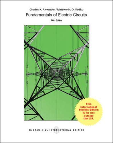 9781259071393: Fundamentals of Electric Circuits (Int'l Ed)