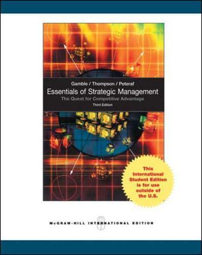 9781259071485: Essentials of Strategic Management: The Quest for Competitive Advantage