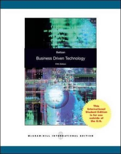 9781259071713: Business-Driven Technology