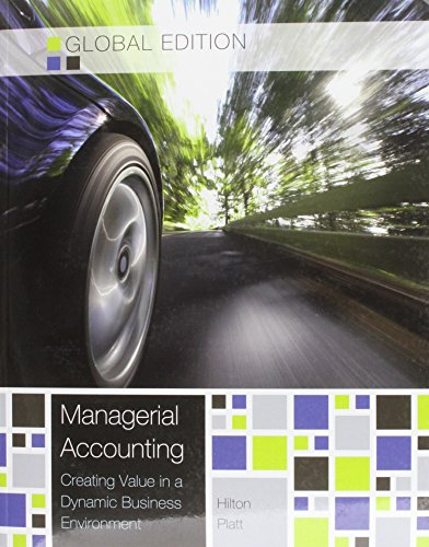 9781259073649: Managerial Accounting (Asia Higher Education Business & Economics Accounting)